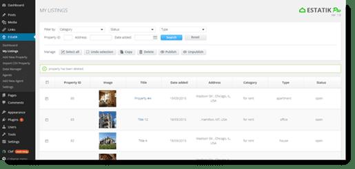 estatik listings page