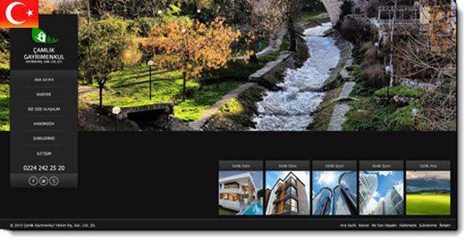 turkish language estatik website